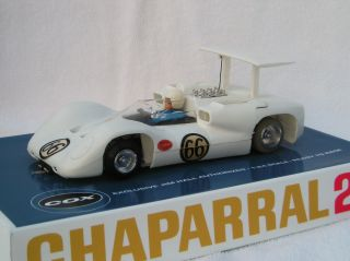 COX CHAPARRAL 2E RTR ISO FULCRUM JIM HALL #66  1/24 SLOT CAR