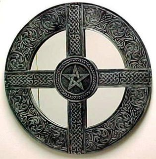 Celtic Knotwork Pentagram Wall Mirror Wiccan Decor