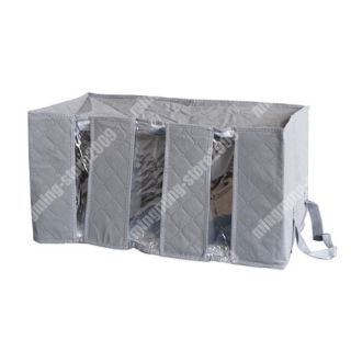 Charcoal Non Smell Clothing Storage Bag Organizer 65L