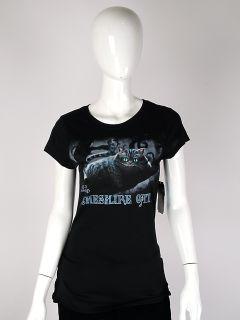 Disney   Medium Cheshire Cat   Alice in Wonderland Juniors T Shirt 100