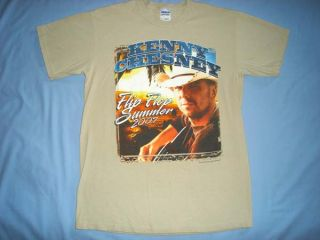 Kenny Chesney Flip Flop Summer Country Music Concert Tour Beige T