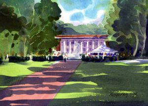 Chautauqua Institution New York Watercolor Print Lovely
