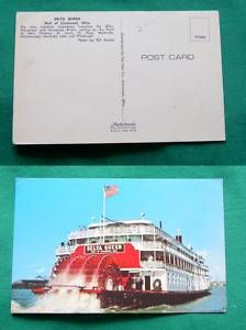 Delta Queen Paddle Wheel Boat Cincinnati Ohio Postcard