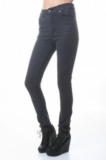 Highwaist Cheap Monday Second Skin Stone Black Skinny Jeans 25 26 27