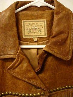 Ranch Wear Cat Ballou Fringe Mountain Woman Leather Coat Jacket XS NWT