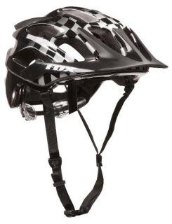 Fox Racing Flux MTB Helmet Black Checker Small Medium