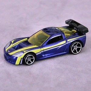 Hot Wheels Mystery Chevrolet Chevy Car Corvette C6 R C6 Blue Yellow