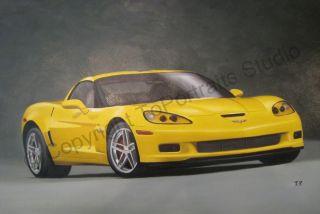 image close up details title chevrolet corvette c6 zo6 size