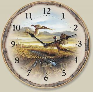 Terry Redlin Quart Clock Pheasant Clock Country Road
