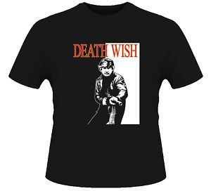 Charles Bronson Death Wish Retro Movie Black T Shirt