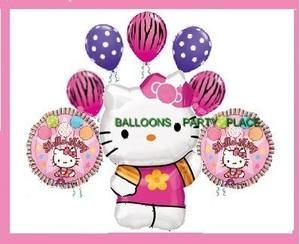 Hello Kitty Zebra Pink Balloons Party Supplies Birthday