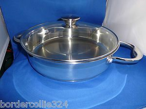 New Wolfgang Puck Bistro Collection Covered Casserole Pan 10 Lid