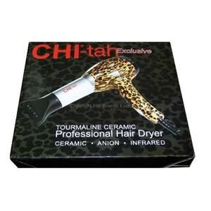 149 Chi Farouk Chi Tah Tourmaline Ceramic Hair Dryer GF1505D Cheetah