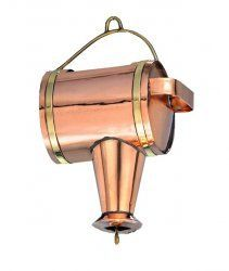 Good Directions Watering Can Leader for Rain Chain Polished Copper