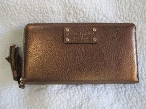 New Kate Spade Cheltenham Neda Wallet Bronze WLRU0798