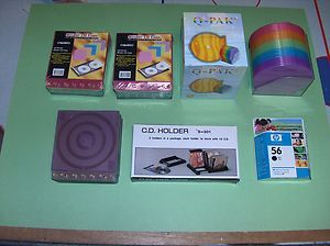 New Chenbro Binder CD DVD Caeses Multi colored Q Pack CD DVD Cases