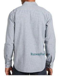 Lucky Brand Blue Rail Yard Chambray WorkWear Shirt XL