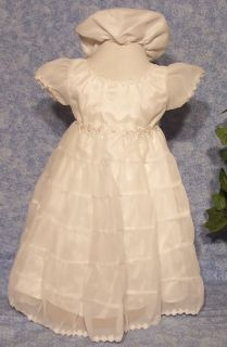 Blessing Dress Baby Ivory Dress Baptismal Dress Chiffon