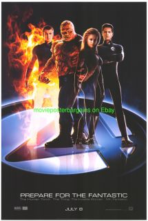 Fantastic Four Movie Poster 2nd Advance 1 Sided 27x40 Original Jessica