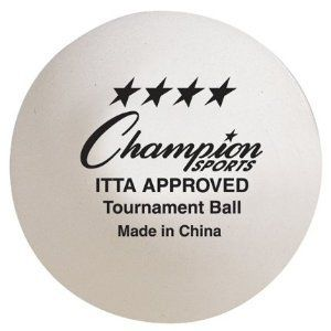 Champion Sports 4 Star Tournament 40 mm Table Tennis Ball