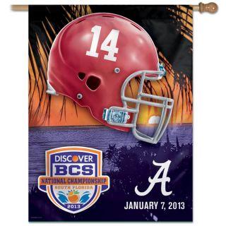 Crimson Tide 2013 BCS National Championship Game 27x37 Vertical Banner