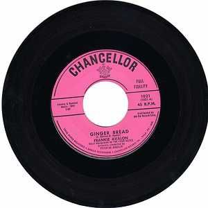 Frankie Avalon Gingerbread Blue Betty 45 Record Chancellor 1021