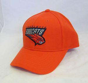 Charlotte Bobcats NBA Cap w Velcro Strap by Reebok Orange