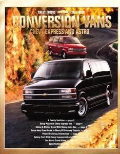 2001 01 Chevy Express Astro Conversion Vans Brochure
