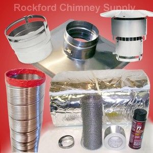 x20 Stainless Steel Flexible Chimney Liner Kit & Insulation Kit NEW