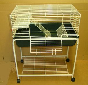 Guinea pig cage midwest guinea pig habitat plus cage for Guinea pig stand