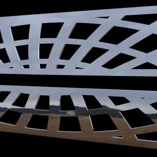 Chevy S10 98 04 Chrome Spiderweb Grille Insert Stainless Steel Trim