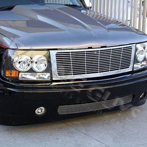 2000 2006 Chevy Tahoe Suburban Black Headlights Headlight Grille