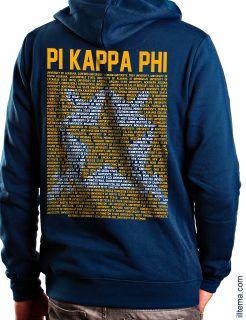 ΠΚΦ Pi Kappa Phi Hoodie Sweatshirt Hooded PKP Shirt Chapters