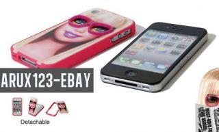 Brand New Barbie Glasses Design Case Detachable Cover Bumper iPhone 4
