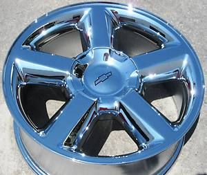 YOUR STOCK 4 20 FACTORY CHEVROLET CHEVY SUBURBAN TAHOE CHROME WHEELS