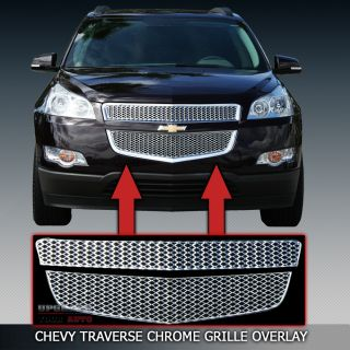2009 2011 chevy traverse chrome grille overlay factory style factory