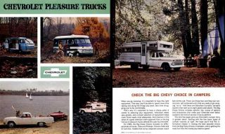 Chevrolet 1965 Pleasure Trucks Check The Big Chevy Choice in Campers