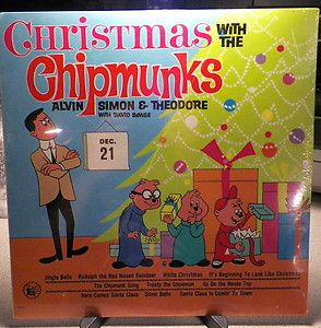 The Chipmunks LP New SEALED Alvin Simon Theodore Chipmunk Song