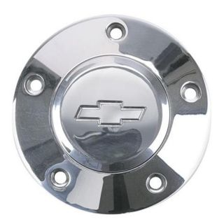 Steering Wheel Chevy Bowtie Polished Billet Horn Button Cover