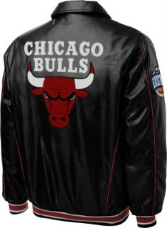 chicago bulls faux leather full zip varsity jacket is a must have for