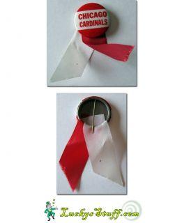C1950s Chicago Cardinals Pinback Pin Ribbon Football NFL
