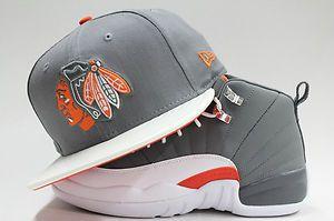 Chicago Blackhawks Jordan Retro 12 Cool Grey One Size Fits Most New