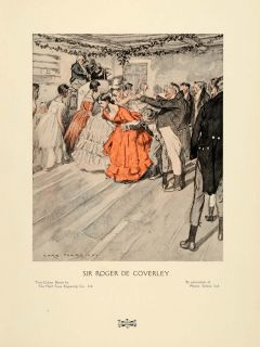 Roger de Coverley English Country Dance Charles Pears Costume