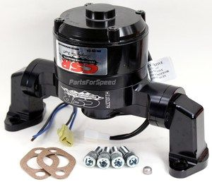 CSR 901NBLK Small Block Chevy Black Electric Water Pump New Design