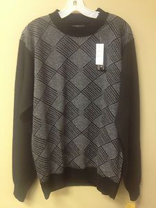 Chereskin Gray & Black Square Pattern Sweater* Size XL  NEW WITH TAGS