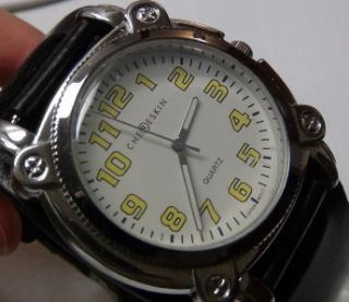 DKNY Chereskin Mens Silver Quartz Large Military Style Watch $239
