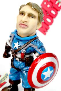 The Captain America Chris Evans Funny Painted Deformed SD Resin Model