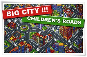 New Childrens Roads Play Mat Rug Any Size Big City 3D Cool