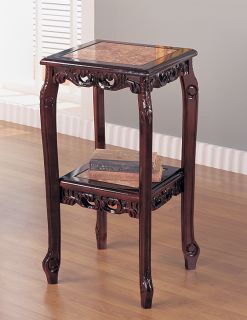 Cherry Marble 30in Traditional Plant Stand Side Tables 2
