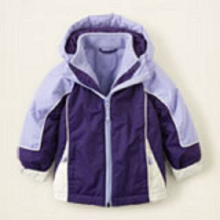 New The Childrens Place Girls 3 in 1 Jacket Coat Size 3T and 4T RV $